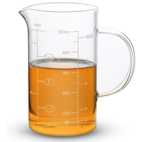 10. Clopare Clear Glass Measuring Cup with Handle - Best Measuring Cups