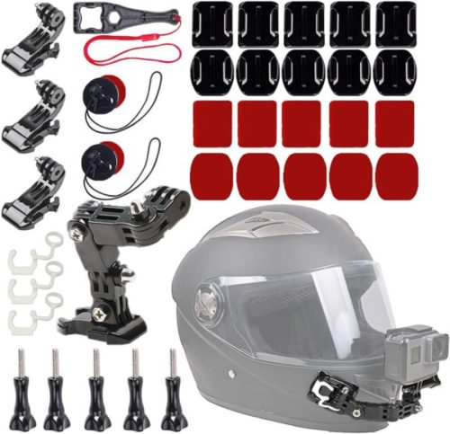 10. WLPREOE Motorcycle Helmet Chin Mount Kit for Vlog Camera