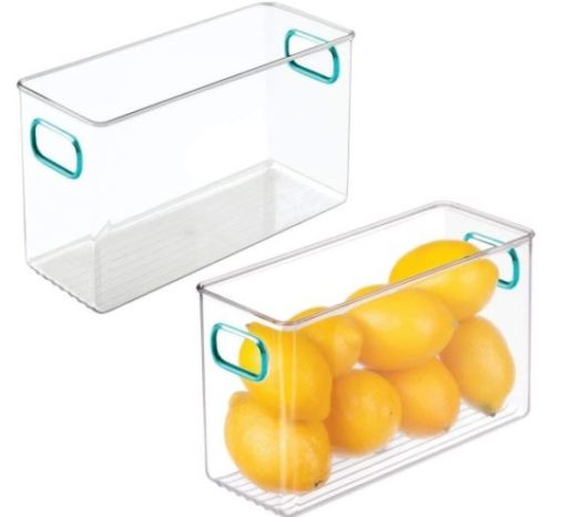 11. mDesign Plastic Refrigerator Organizer for Kitchen Pantry Storage Bin