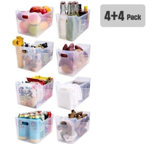 12. Haim Living Store Small and Large Pack of Refrigerator and Freezer Organizer Storage Bins