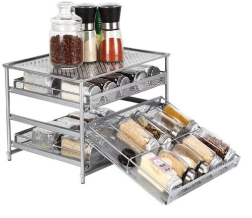 12. NEX Hanging Spice Rack Use for Bottle Drawer Storage Cabinet