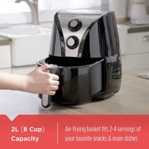 13. Black and Decker Air Fryer Purify Stainless Steel