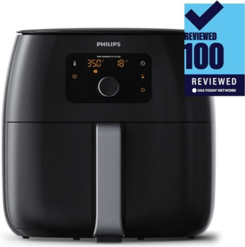 15. Philip Digital Twin Turbo Air Fryer with Fat Removal Technology