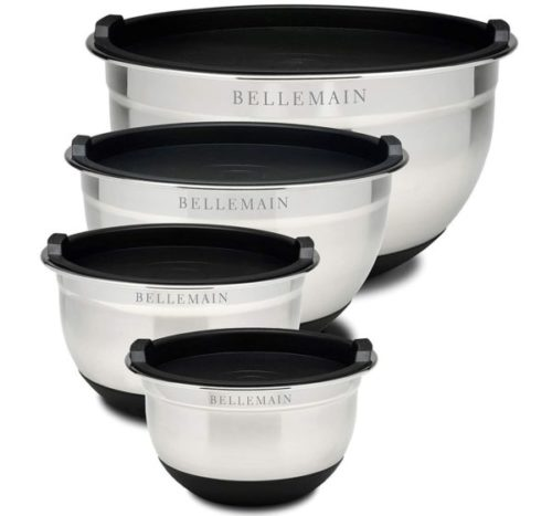2. Bellemain Non-Slip Large Mixing Bowls with Lids