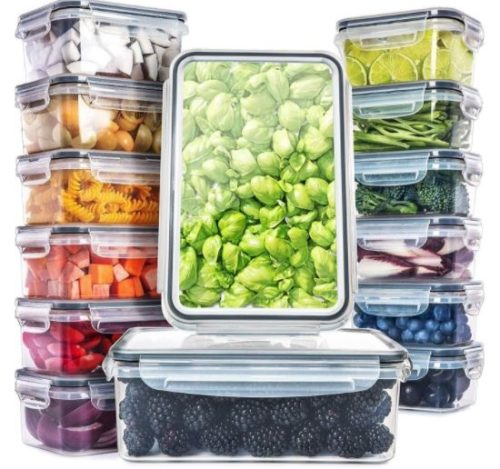 3. Fullstar Plastic Food Storage Container with LIDs Airtight Leak Proof - Refrigerator Organizer