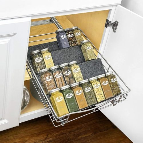 3. Lynk Professional Spice Rack Tray with Heavy Gauge Steel Drawer Organizer
