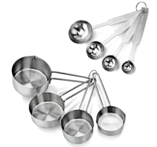 3. New Star Stainless Steel Measuring Cups and Spoons Set