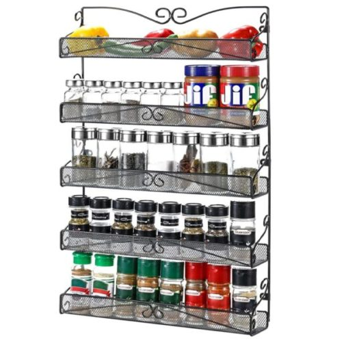 4. 3S Wall Mounted Large Hanging Spice Rack for Cabinet Kitchen Door