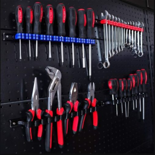 4. CASOMAN Plastic Rail Wrench  Screwdriver Organizer with Hand Tool Holder