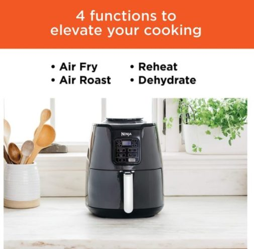4. Ninja Air Fryer with 4 Quart Capacity and High Gloss Finish