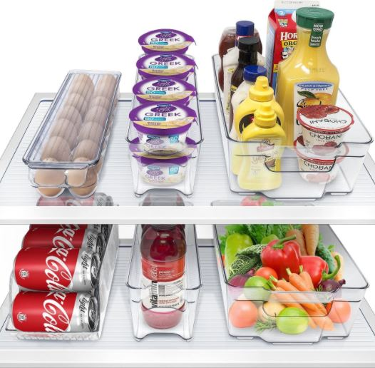 4. Sorbus Refrigerator and Freezer Organizer Stackable Food Container with BPA Free