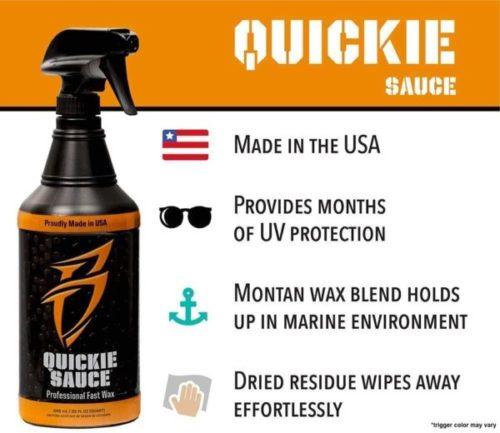 5. Boat Bling Quickie Sauce Premium High-Gloss Fast Boat Wax and Polish