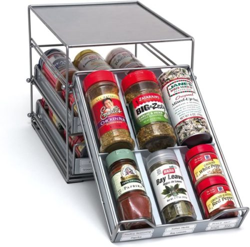 6. Lipper International Three-Tier Spice Drawer