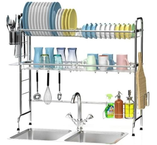 8. Ace Teah Over The Sink Large Drying Dish Rack Organizer
