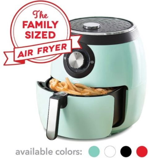 8. Dash Deluxe Electric Air Fryer with Temperature Control and Auto Shut Off