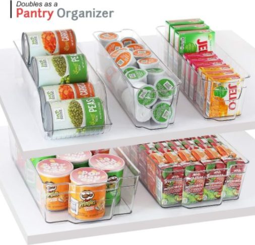 8. Storage Maid Kitchen Bin Refrigerator Organizer with Dry Erase Magnetic Whiteboard Set