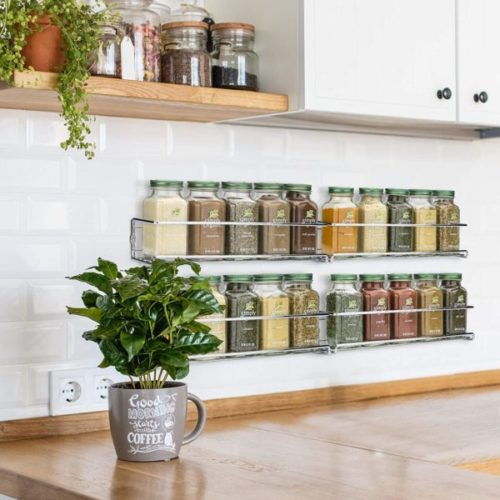 8. ZICOTO Premium Hanging Spice Rack Organizer for Kitchen