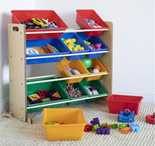 1. Humble Crew Toy Storage Organizer for Kids with 12 Plastic Bins