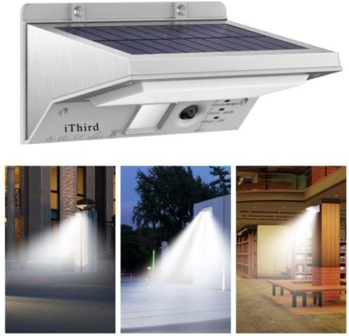 1. iThird LED Solar Powered Motion Sensor Light