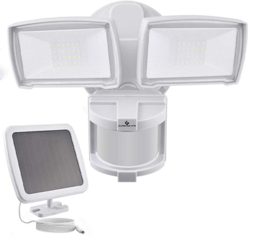 10. Glorious-Lite LED Solar Powered Motion Sensor Lights with Rechargeable and Waterproof