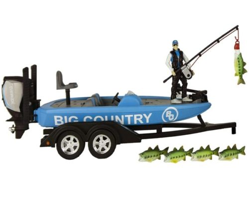 13. Big Country Professional Toy Boat Trailer with Evinrude Motor