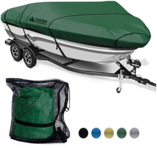 14. Leader Accessories Full-Size Boat Cover Waterproof Trailerable Runabout
