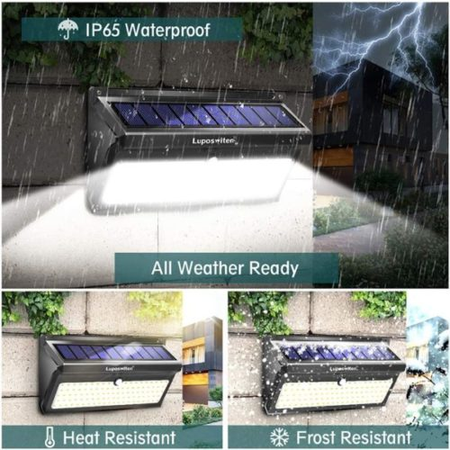14. Luposwiten LED Waterproof Solar Powered Motion Lights for Garden, Patio and Yard