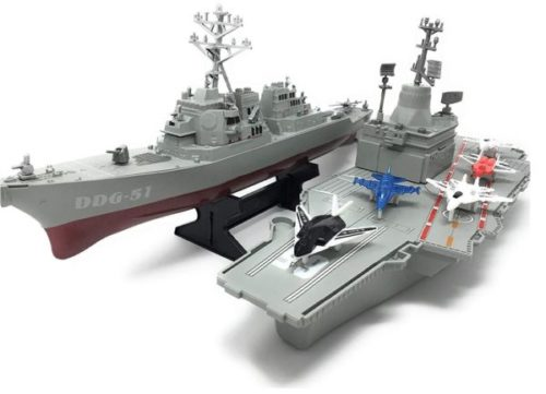 14. Xplore Aircraft Carrier Toy Boat Destroyer Ship