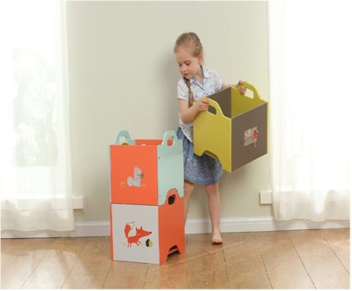 14. labebe Wooden Toy Storage for Kids from 1-3 Year