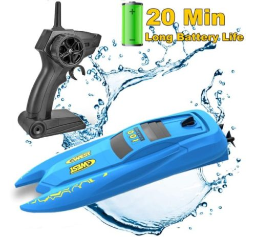 15. SZJJX Remote Control Boat for Pool with Long Battery Life for Kids
