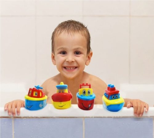 2. 3 Bees & Me Bath Magnet Toys Boat Set for Kids
