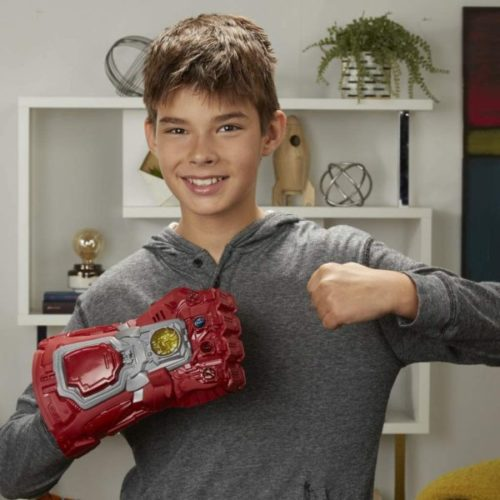 3. Avengers Marvel Endgame Red Infinity Electronic Iron Man Glove for Kids with Sound and Light