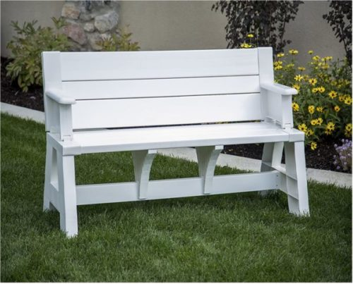 3. Premiere Products Resin Wooden Outdoor Bench