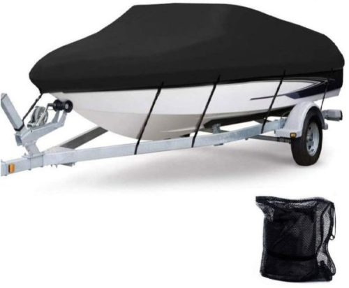 6. Anglink Polyester Heavy Duty Boat Cover Waterproofing with All-Weather Protection