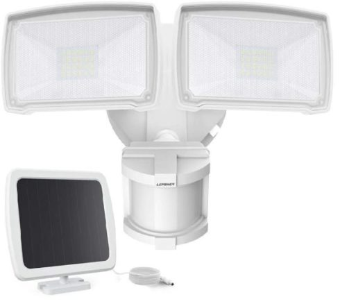 6. Lepower LED Security Solar Motion Sensor Light