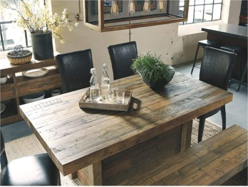 6. Signature Design by Ashley Brown Dining Room Wooden Bench