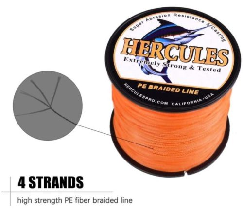 7. HERCULES Super Strong Braided Fishing Line for Salt Water