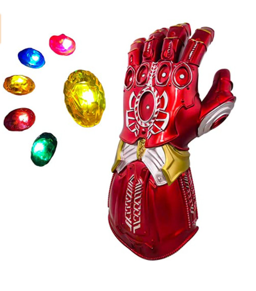 7. Haho LED Iron Man Glove Infinity Gauntlet with Removable Magnet for Kids