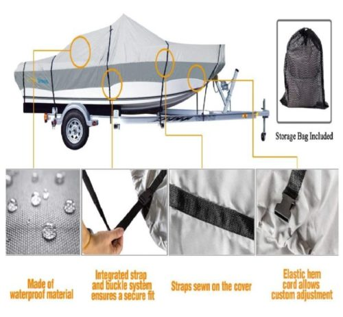 7. PrimeShield Marine Grade Boat Cover Waterproofing with Tightening Strap