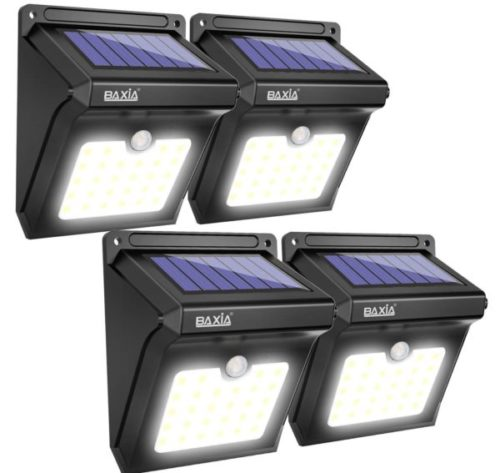 8. Baxia LED Wireless Technology Solar Powered Motion Light
