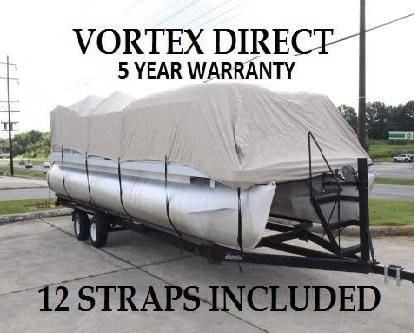 8. Vortex Beige Canvas Boat Cover Waterproofing