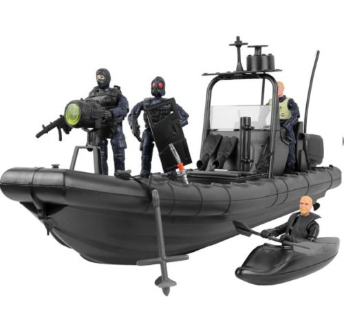9. Click N' Play Military Swat Force Toy Boat for Kids