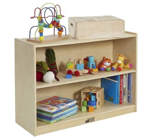 9. ECR4Kids Birch Toy Storage Cabinet Organizer with Back for Kids