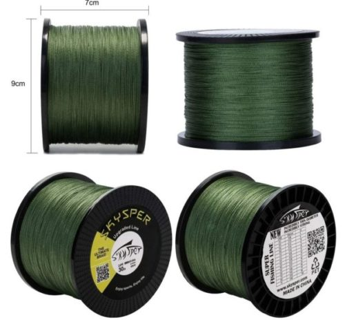 9. SKYSPER Super Strong Braided Fishing Line with Abrasion Resistant