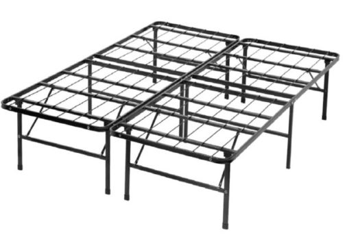 10. BestMassage Foldable Bed Frame King Size Mattress with Noise Free - Needed for Heavy Duty Portable Beds