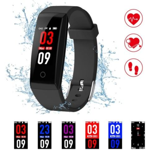 10. Kirlor Smart Bracelet for Fitness Activity Tracker with Heart Rate Monitor