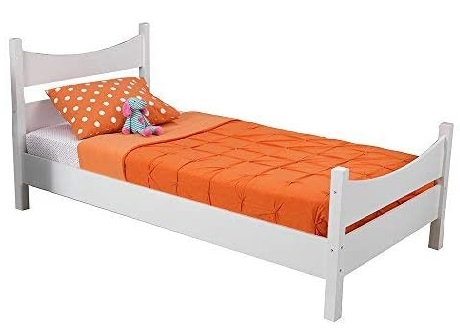 12. KidKraft Addison White Twin Bed with Twin Bed Headboards