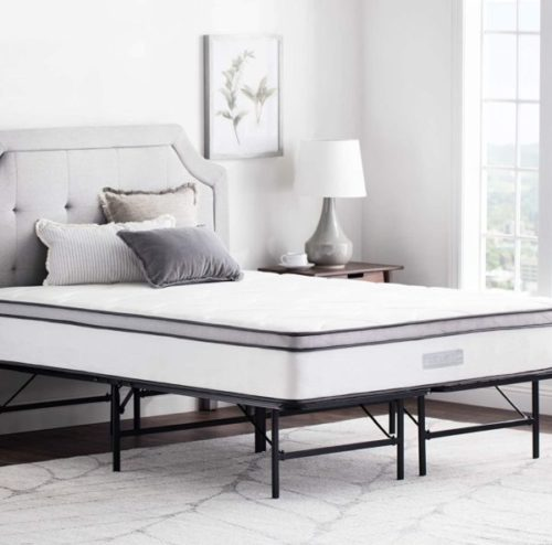 12. WEEKENDER Folding Bed Frame for All Mattress Types - Needed Portable Beds with Extra Storage Base