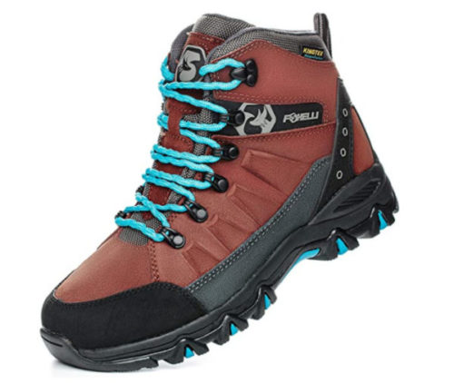 13. Foxelli Comfortable Waterproof Boots Women Lightweight and Breathable Hiking Waterproof Boots