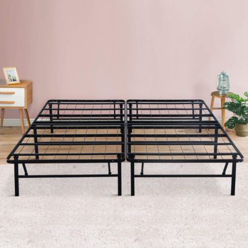 13. PrimaSleep Dura Metal Folding Bed Frame with Steel Slat Support - Needed Comfort Portable Beds